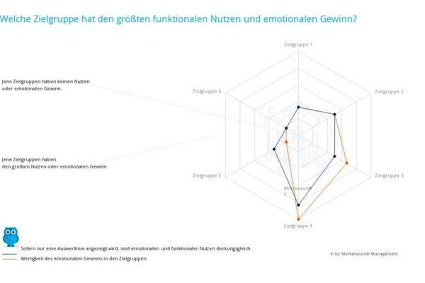 Ergebnis der Positionierungsanalyse zur zielgruppenorientierten Positionierung in der Zielgruppe auf Werte- und Nutzenebene, Zielgruppenanlyse