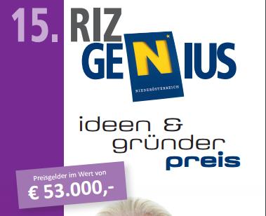 Nominierung beim RIZ GENIUS Ideen- und Gründerpreis