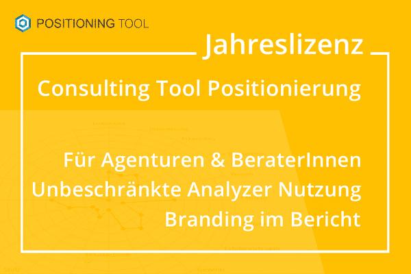 Consulting Tool zur Strategie in Marketing und Verkauf - für Agenturen und Berater - Jahreslizenz