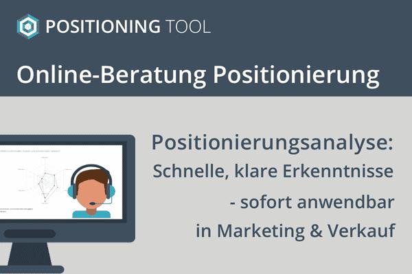 Online Beratung Positionierung: Positionierungsanalyse
