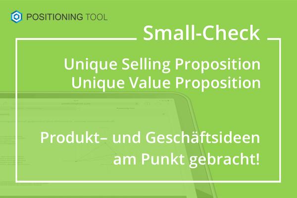USP-Check, UVP-Check für die Geschäftsidee, Produktidee